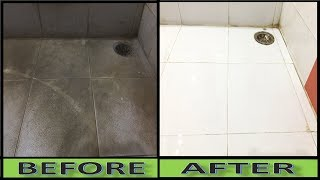 How TO Turn Dirty WHITE Bathroom Tiles To PURE WHITE |||| Crazy Indian Hacker