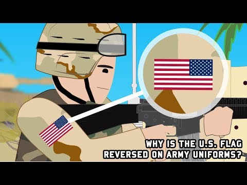 Why is the U.S. flag reversed on Army uniforms?