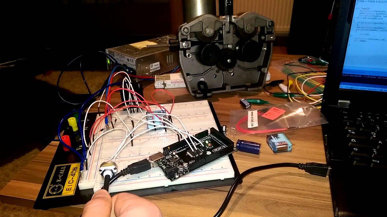 Mig Mag Drahtvorschub Schweißgerät PWM Arduino - YouTube