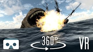 360 Virtual Reality Sea Monsters and Dragons: scary 360° VR version