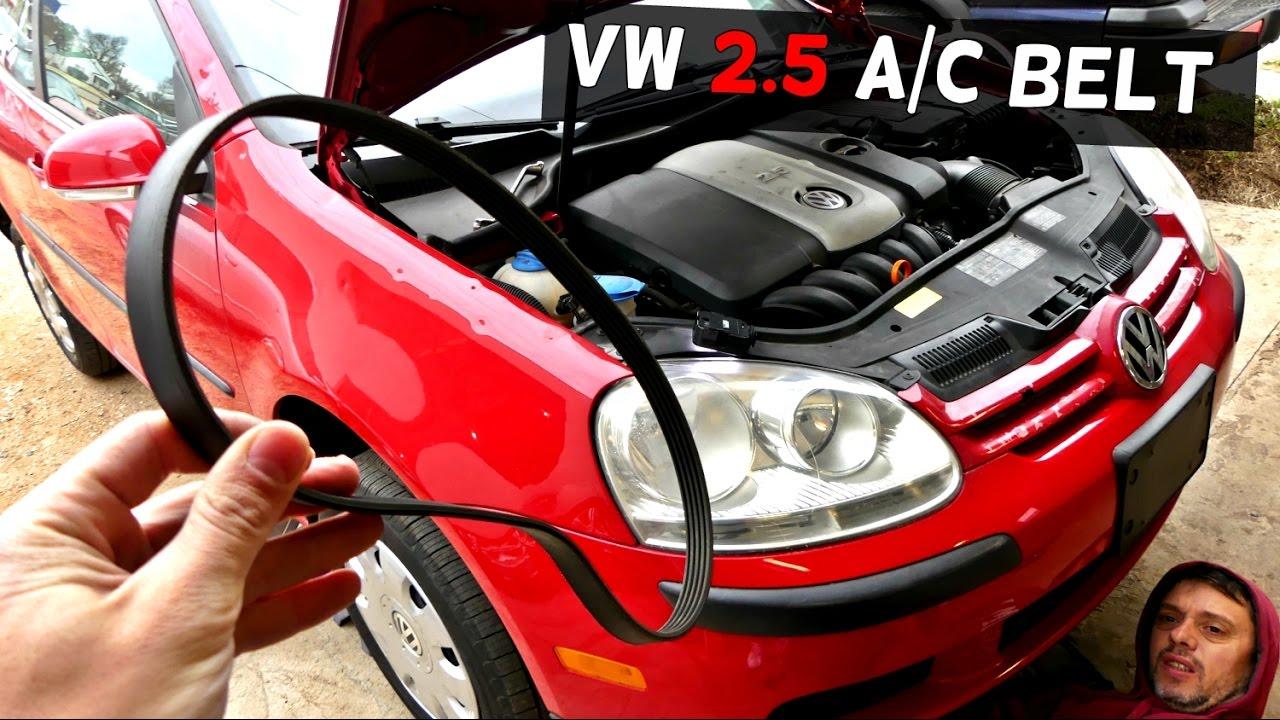 vw rabbit jetta mk5 2 5 serpentine belt a c belt air conditioner belt [ 1280 x 720 Pixel ]