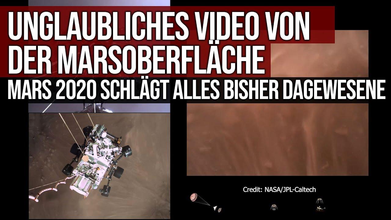 Unglaubliches Video von der Marsoberfläche - Mars 2020 schlägt alles bisher dagewesene