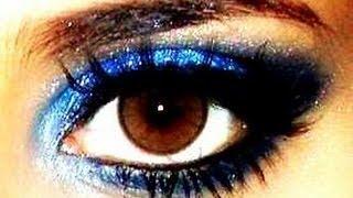Maquiagem Azul com Preto para Festas Thumbnail