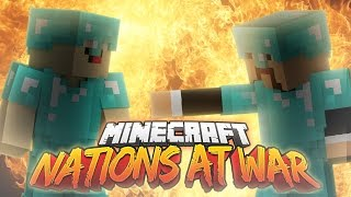 Minecraft NATIONS AT WAR! (Team Fights & Conquer Enemy Capitals!)