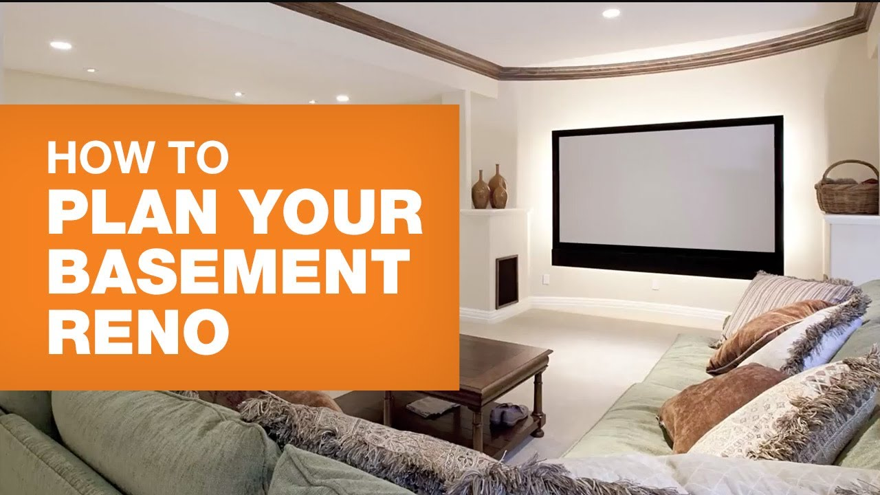 How To Finish A Basement 10 Steps Planning Your Reno The Home Depot Canada