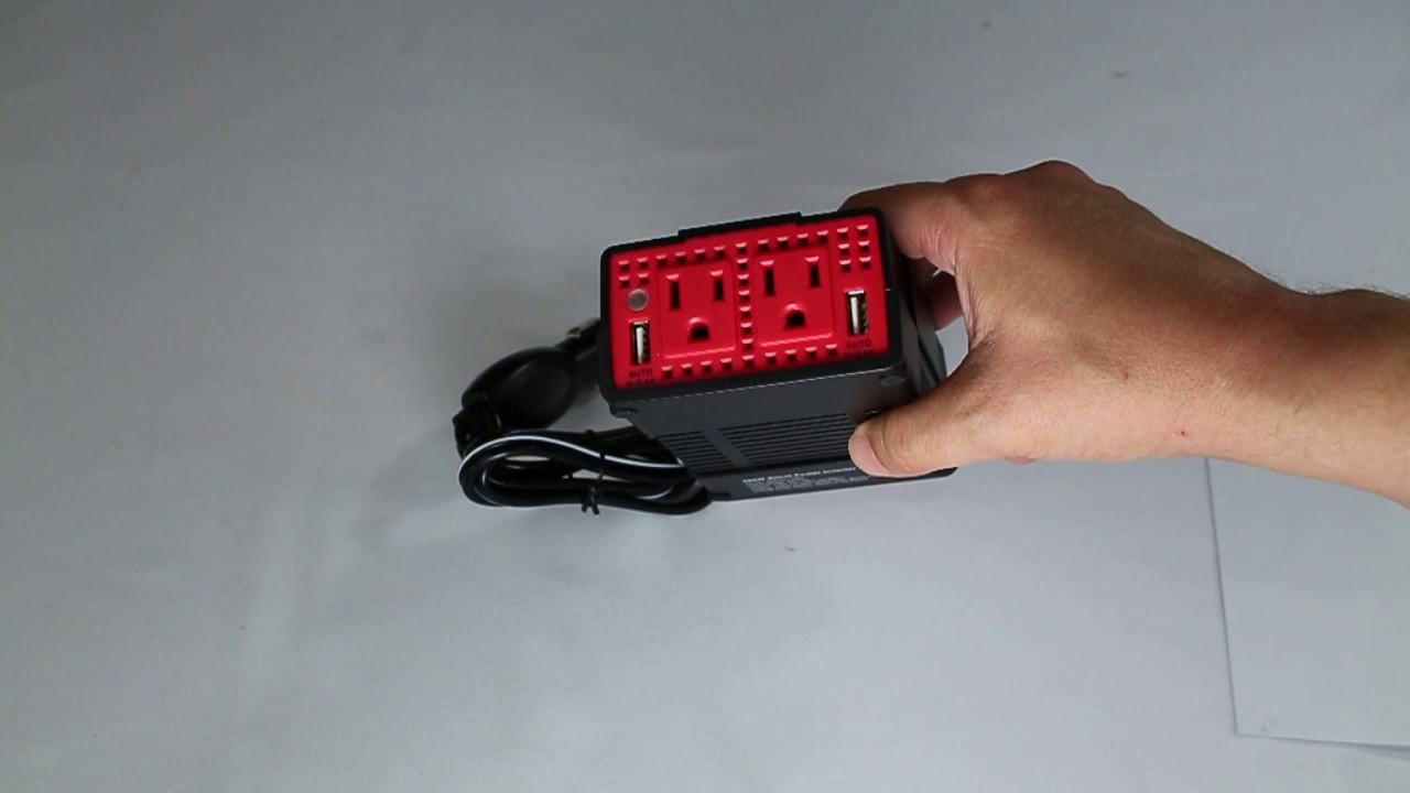 Review Bestek 300w Power Inverter Dc 12v To 110v Ac Car Adapter 120v