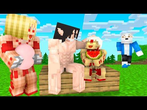Monster School Titan Family Sad Life With Bad Sans - Minecraft Animation