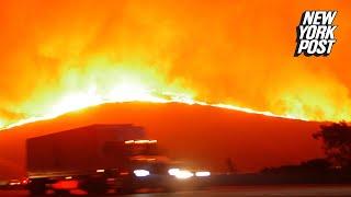 Frightening footage shows evacuees fleeing deadliest wildfire in California history