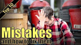 Top 10 Kamado begiฑners MISTAKES & how to FIX them! | Kamado Joe 101