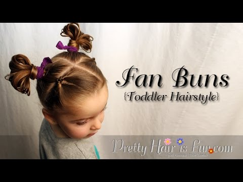 How to: Fan Buns Easy Toddler Hairstyle |Pretty Hair is Fun