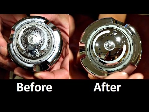 How To Clean Shower Head With Hard Water Buildup Youtube
