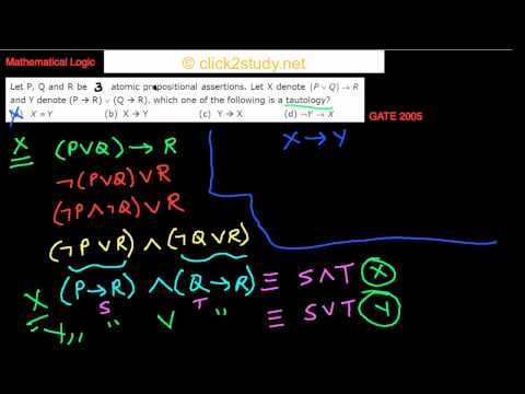 Mathematical Logic Example 1.002 GATE CS 2005 (FInd the tautology)