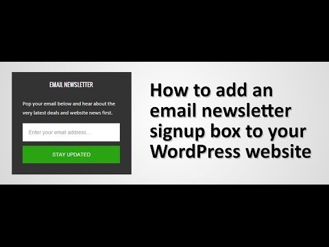 How to add an email newsletter signup area a WordPress website