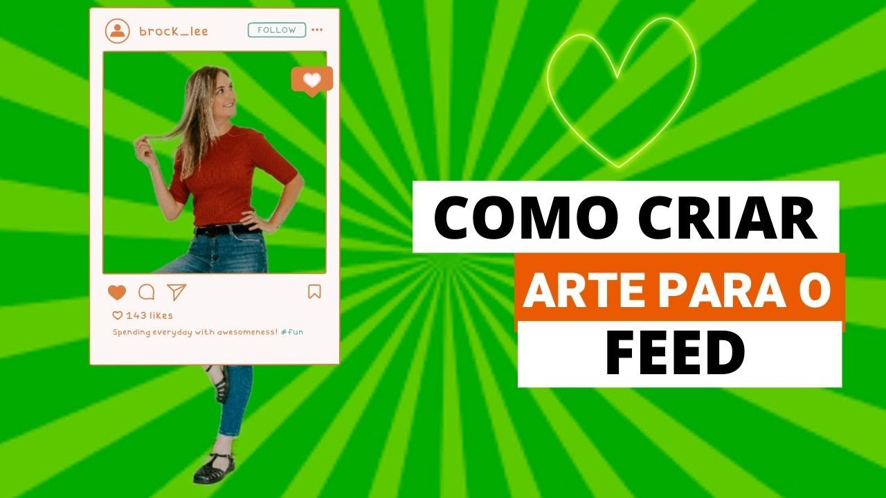 Aprenda em 2 minutos a criar uma arte para o feed do instagram!