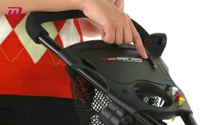 masters golf 7 series 3 wheel classic push cart trp0005