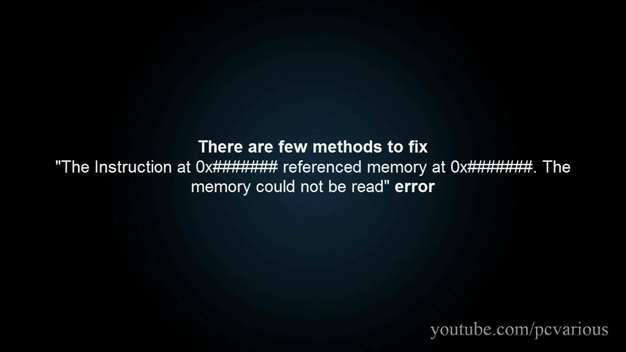 The Memory Could Not Be Read Error 6 Possible Causes And Fixes