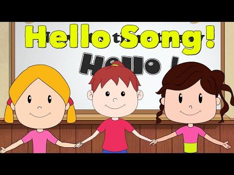 Hello Song for Kids - Kindergarten and Preschool Song - ELF Learning