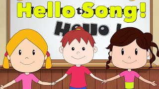 Hello Song for Kids - Kindergarten and Preschool Song - ELF Learning