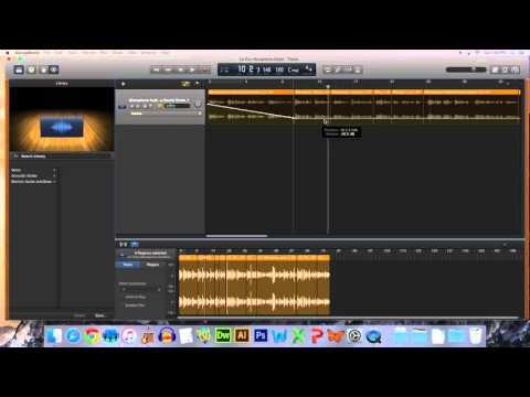 Editing Track Volume in GarageBand10