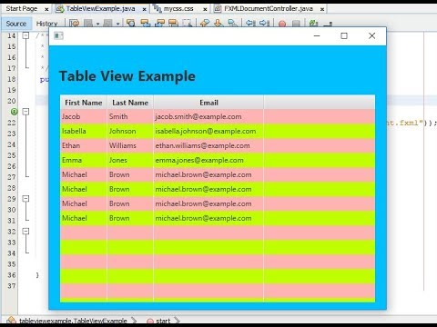JavaFX TableView Alternate Row Color