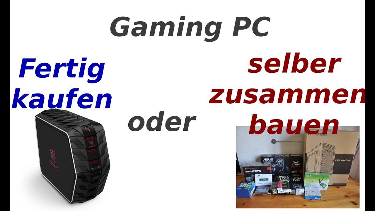 gaming pc selber bauen oder kaufen youtube. Black Bedroom Furniture Sets. Home Design Ideas