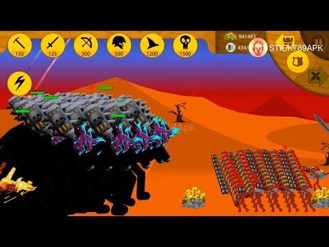 💣 50 GRIFFON VAMPIRE 300 SPEARTON LAVA vs RED SPEATON💖 STICK WAR 3 APK MOD ARMY 😂 Best Games #FHD