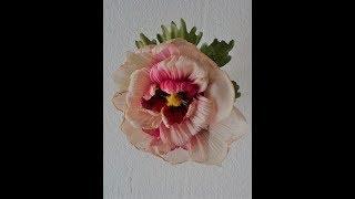 Цветы из ткани. Мальва.Часть2. Fabric flowers. Mallow. Part2