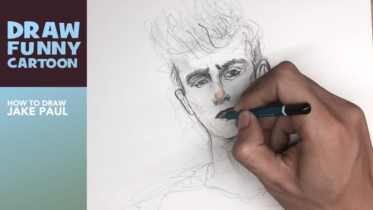 How to draw jake paul youtube star