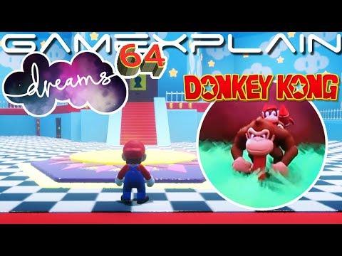 Incredible Mario 64 & 3D Donkey Kong Recreation in Dreams