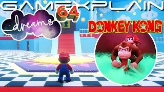 Incredible Mario 64 & 3D Donkey Kong Recreation in Dreams