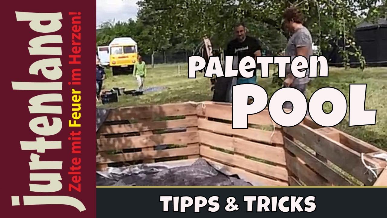 palettenpool im zeltlager - jurtenland - youtube