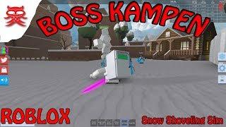 Boss Kampen - Snow Shoveling Sim - Dansk Roblox