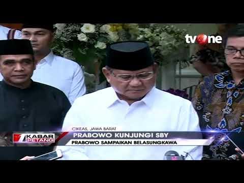 Melayat ke Keluarga SBY, Prabowo: Ibu Ani Sosok Istri Prajurit Hebat
