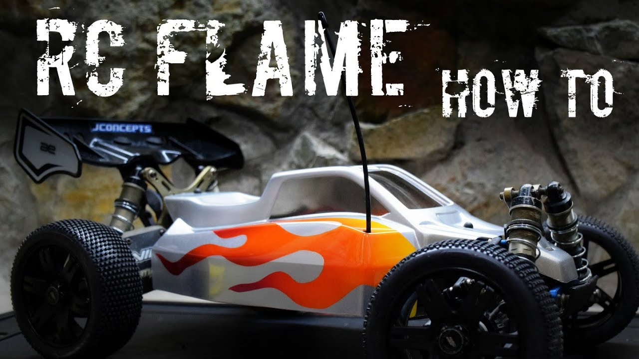 How To Paint A Flame On A Lexan RC Body Using Liquid Mask YouTube - Custom vinyl decals for rc carsimages of cars painted with flames true fire flames on rc car