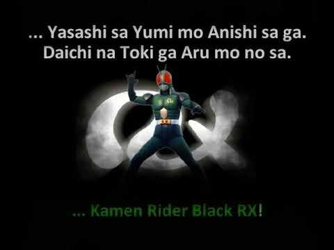 Karaokê Kamen Rider Black RX  PT e JP