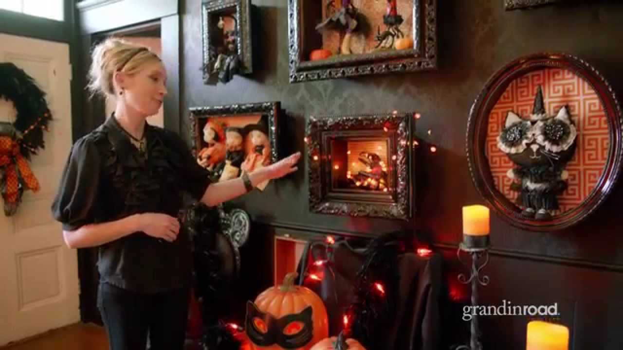 how to make a halloween shadowbox grandin road youtube - Grandin Road Halloween Haven