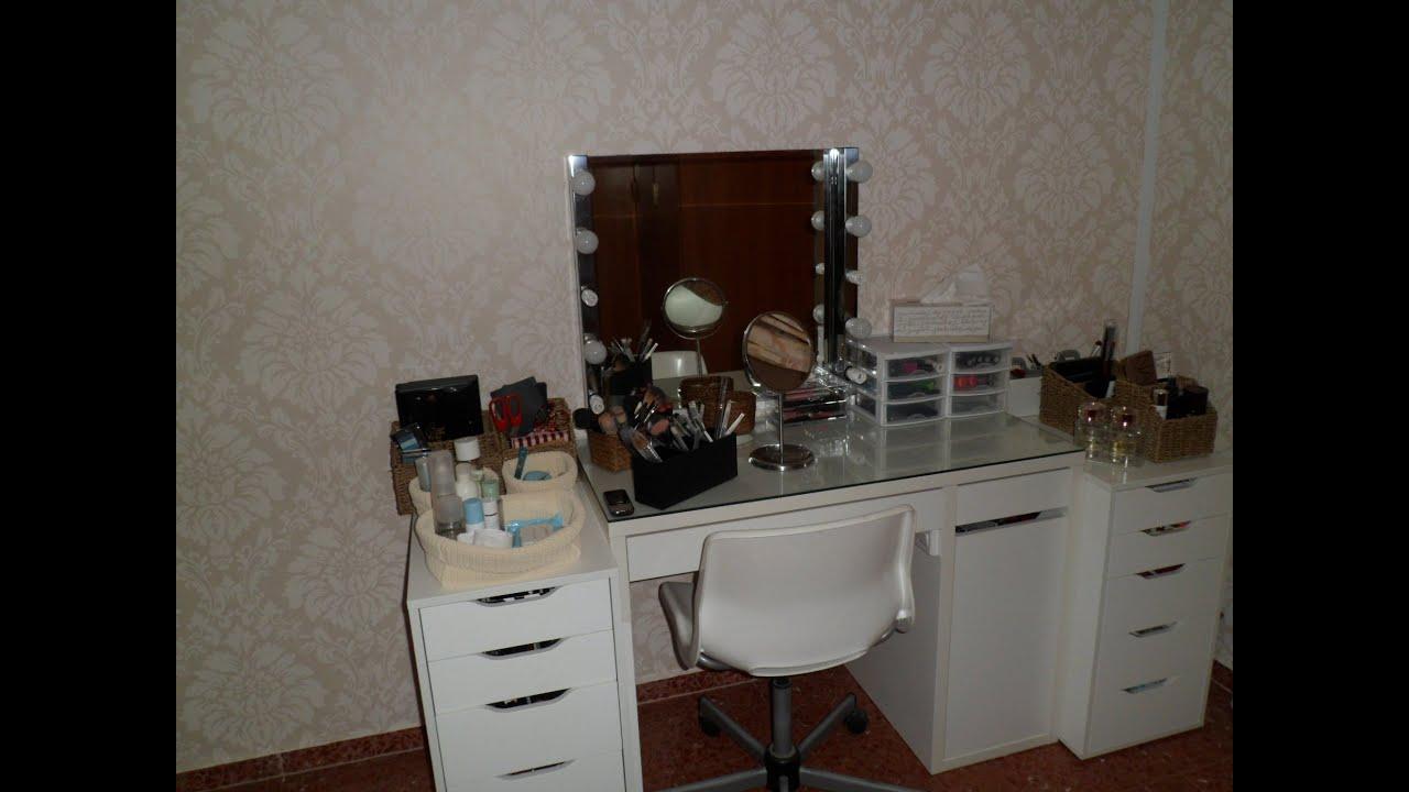 Mi tocador y organizacion de mi maquillaje parte 1 youtube - Hacer tocador para nina ...