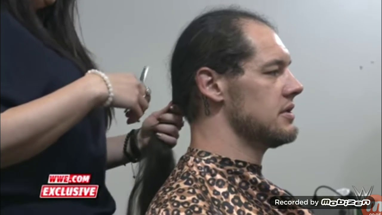 Baron Corbin Cuts His Long Hair To Have A New Bald Look Youtube