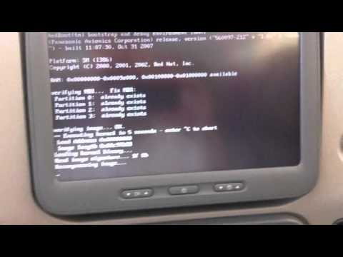 Personal Entertainment System on Emirates A380-861 booting up