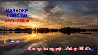Kaoraoke Tình Nghèo Có Nhau | Karaoke Long An