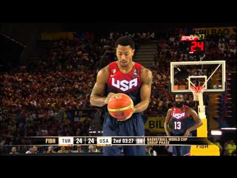 Turkey-USA (40-35) FIBA Basketball World Cup - 2nd Quarter