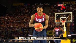 Turkey-USA (40-35) FIBA Basketball World Cup - 2nd Quarter