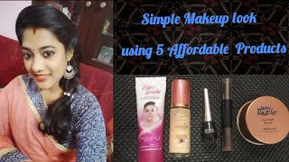 Simple Makeup look using 5 Affordable Products in tamil // Affordable Makeup look for Beginners