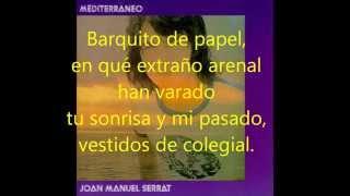 BARQUITO DE PAPEL Joan Manuel Serrat Letra y música