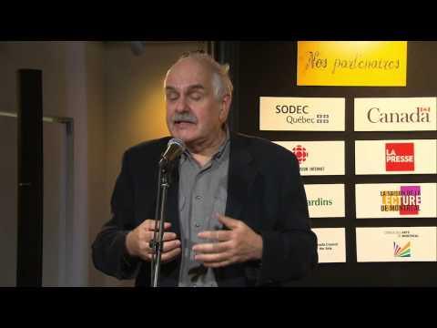 Conférence de presse du Salon du livre de Montréal - 30 octobre 2012