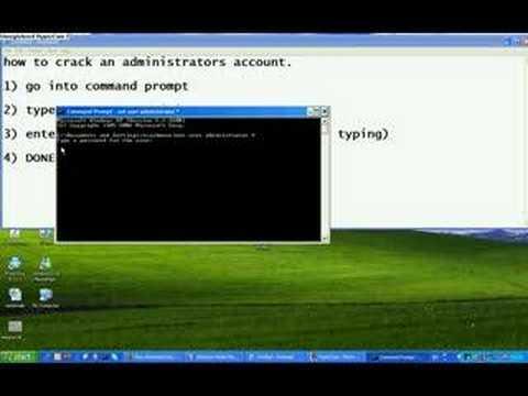 crack an administrators account