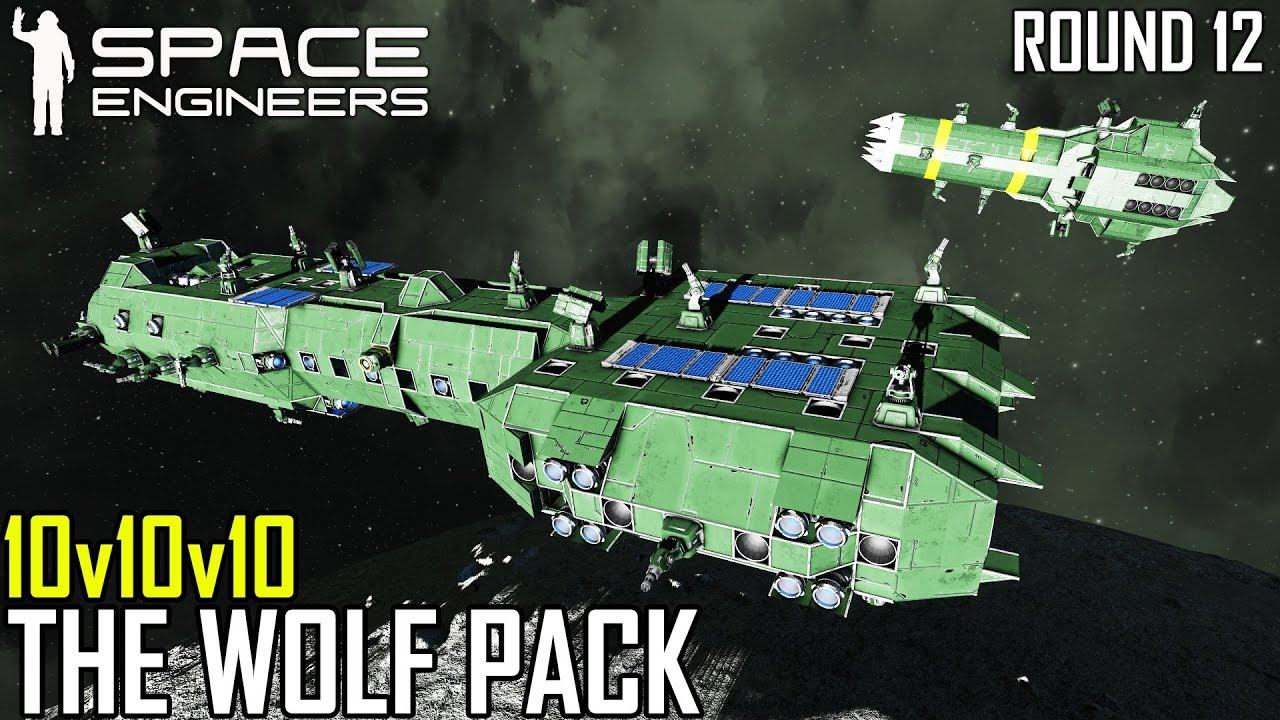 Space Engineers: THE WOLF PACK - PVP Survival #12 (Multi-PoV)