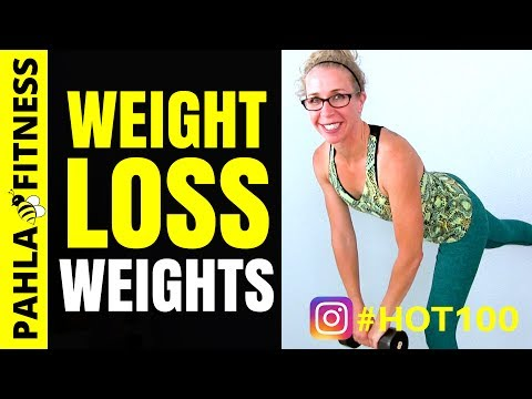 Weight Loss WEIGHT LIFTING 10 Minute Total Body DUMBBELL Training Routine | HOT 100 Challenge Day 59