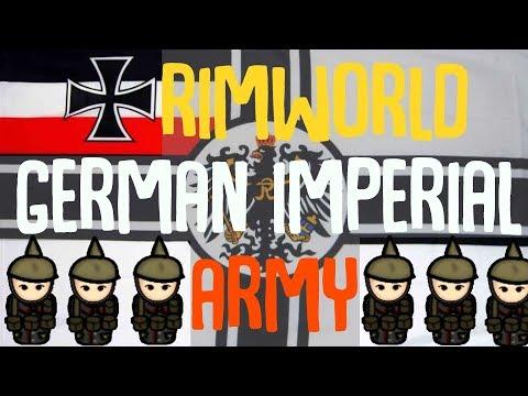 The German Imperial Army! Rimworld Showcase! Gas Masks, Reich Armor