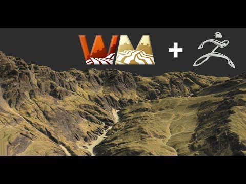Zbrush/WorldMachine Terrain Sculpting Timelapse